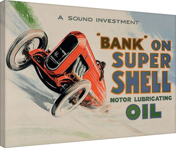 Shell - Bank on Shell - Racing Car, 1924 Canvas Print