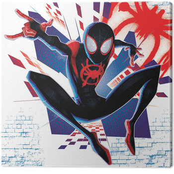 Spider-Man: Into The Spider-Verse - Buildings Canvas Print
