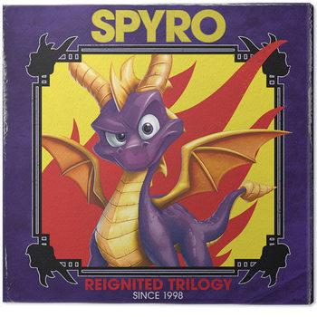 Spyro - Retro Style Canvas Print