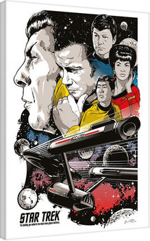 Star Trek: Boldly Go - 50th Anniversary Canvas Print