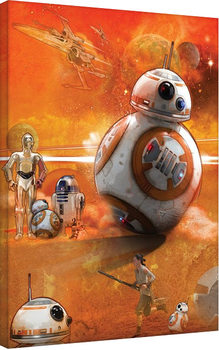 Star Wars Episode VII: The Force Awakens - BB-8 Art Canvas Print