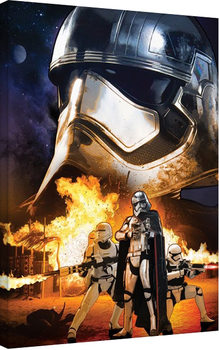 Star Wars Episode VII: The Force Awakens - Captain Phasma Art Canvas Print