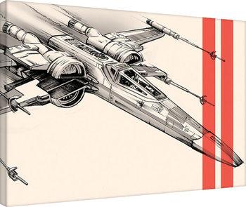 Star Wars Episode VII: The Force Awakens - Captain Phasma Tri Canvas Print
