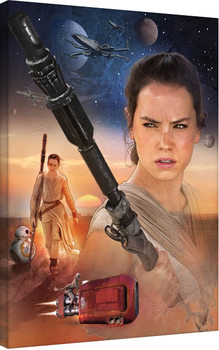Star Wars Episode VII: The Force Awakens - Rey Art Canvas Print
