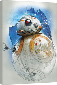 Star Wars The Last Jedi - BB-8 Brushstroke Canvas Print