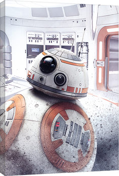 Star Wars The Last Jedi - BB-8 Peek Canvas Print