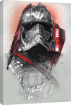 Star Wars The Last Jedi - Captain Phasma Brushstroke Canvas Print