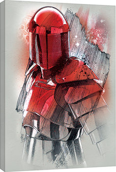 Star Wars The Last Jedi - Elite Guard Brushstroke Canvas Print