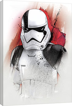 Star Wars The Last Jedi - Executioner Trooper Brushstroke Canvas Print