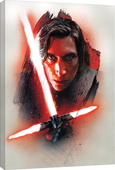 Star Wars The Last Jedi - Kylo Ren Brushstroke Canvas Print
