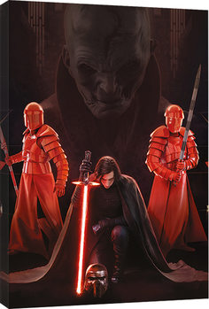 Star Wars The Last Jedi - Kylo Ren Kneel Canvas Print