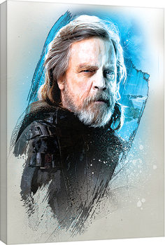 Star Wars The Last Jedi - Luke Skywalker Brushstroke Canvas Print