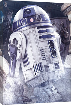 Star Wars The Last Jedi - R2-D2 Droid Canvas Print