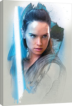 Star Wars The Last Jedi - Rey Brushstroke Canvas Print
