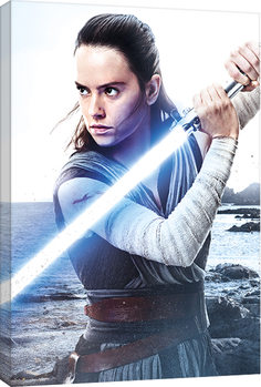 Star Wars The Last Jedi - Rey Engage Canvas Print
