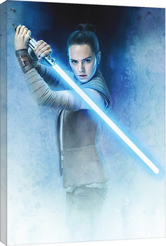 Star Wars The Last Jedi - Rey Lightsaber Guard Canvas Print