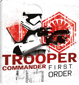 Star Wars The Last Jedi - Tooper Commander First Order Canvas Print
