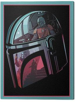 Star Wars: The Mandalorian - Helmet Section Canvas Print