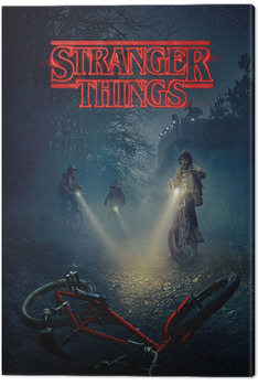 Stranger Things - Bike Canvas Print