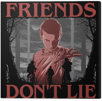 Stranger Things - Friends Don't Lie Canvas Print
