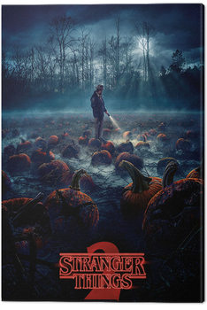 Stranger Things - Pumpkin Patch Canvas Print