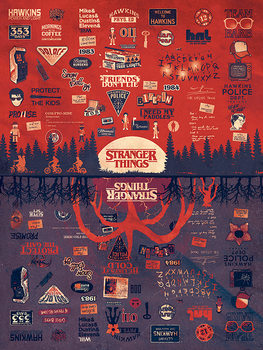 Stranger Things - The Upside Down Canvas Print