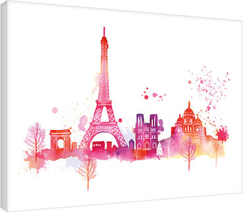 Summer Thornton - Paris Skyline Canvas Print