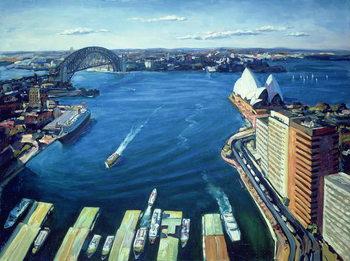 Sydney Harbour, PM, 1995 Canvas Print