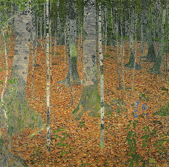 The Birch Wood, 1903 Canvas Print