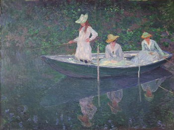 The Boat at Giverny, c.1887 Canvas Print
