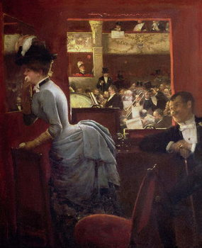 The Box by the Stalls, c.1883 Canvas Print