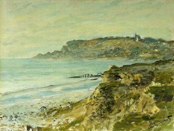 The Cliffs at Sainte-Adresse; La Falaise de Saint Adresse, 1873 Canvas Print