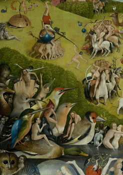 The Garden of Earthly Delights, 1490-1500 Canvas Print