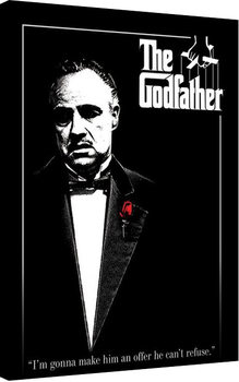 The Godfather - Red Rose Canvas Print