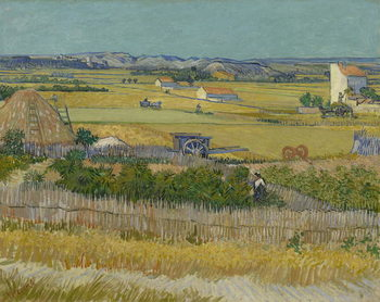 The Harvest, 1888 Canvas Print