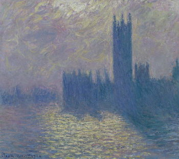 The Houses of Parliament, Stormy Sky, 1904 Canvas Print
