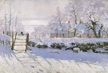 The Magpie, 1869 Canvas Print
