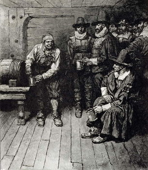 'The Master Caused us to have some Beere', from Harper's Magazine, 1883 Canvas Print