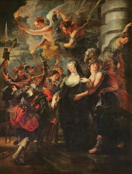The Medici Cycle: Marie de Medici (1573-1642) Escaping from Blois, 21st-22nd February 1619, 1621-25 Canvas Print
