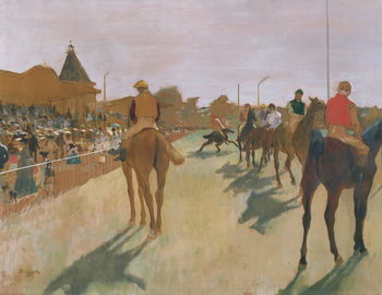 The Parade, or Race Horses in front of the Stands, c.1866-68 Canvas Print