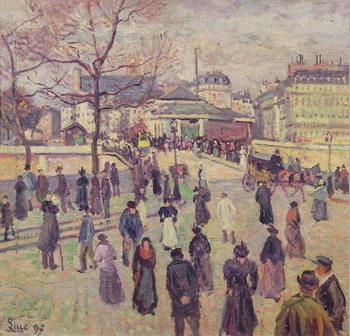 The Pont de l'Archeveche, 1897 Canvas Print