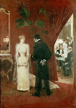 The Private Conversation, 1904 Canvas Print