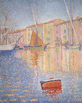 The Red Buoy, Saint Tropez, 1895 Canvas Print