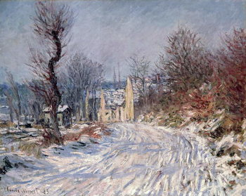 The Road to Giverny, Winter, 1885 Canvas Print