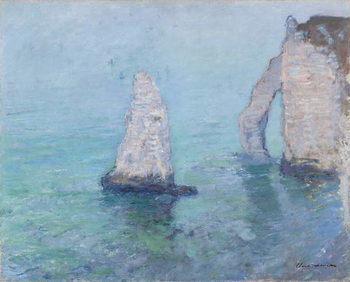 The Rock Needle and the Porte d'Aval, c.1885 Canvas Print