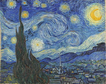 The Starry Night, June 1889 Canvas Print