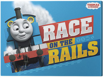 Thomas & Friends - Race on the Rails Canvas Print