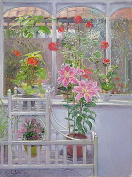 Through the Conservatory Window, 1992 Canvas Print