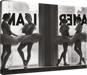 Time Life - Ballet Dancers in Window Canvas Print