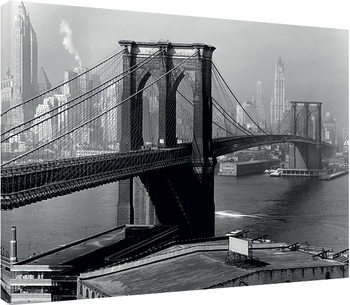 Time Life - Brooklyn Bridge, New York 1946 Canvas Print